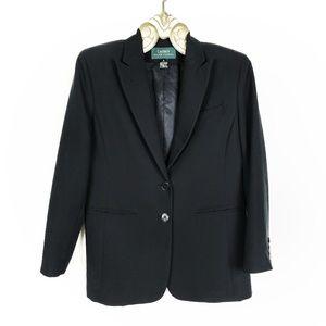 Ralph Lauren | Women's Black Two Button Blazer 6